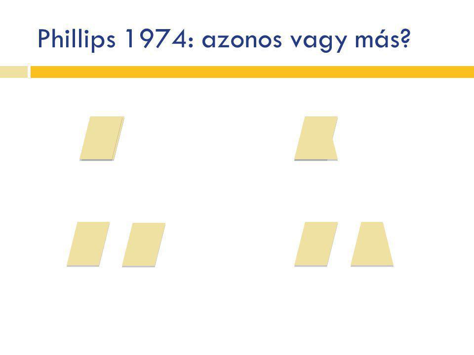 Phillips 1974: azonos vagy más
