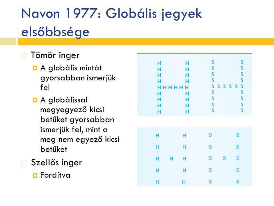 Navon 1977: Globális jegyek elsőbbsége