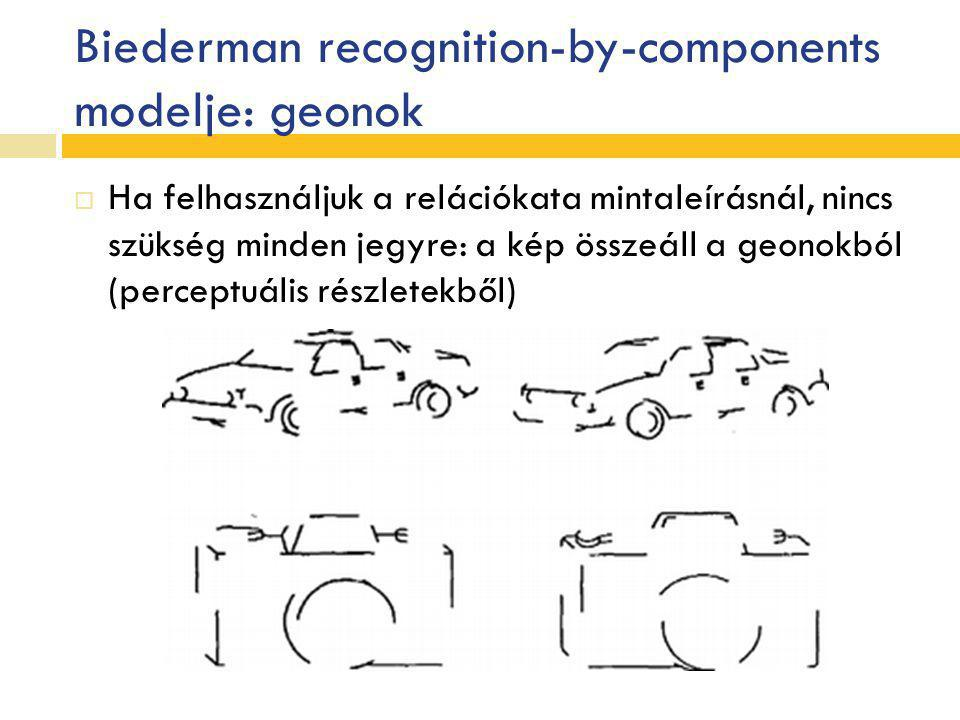 Biederman recognition-by-components modelje: geonok