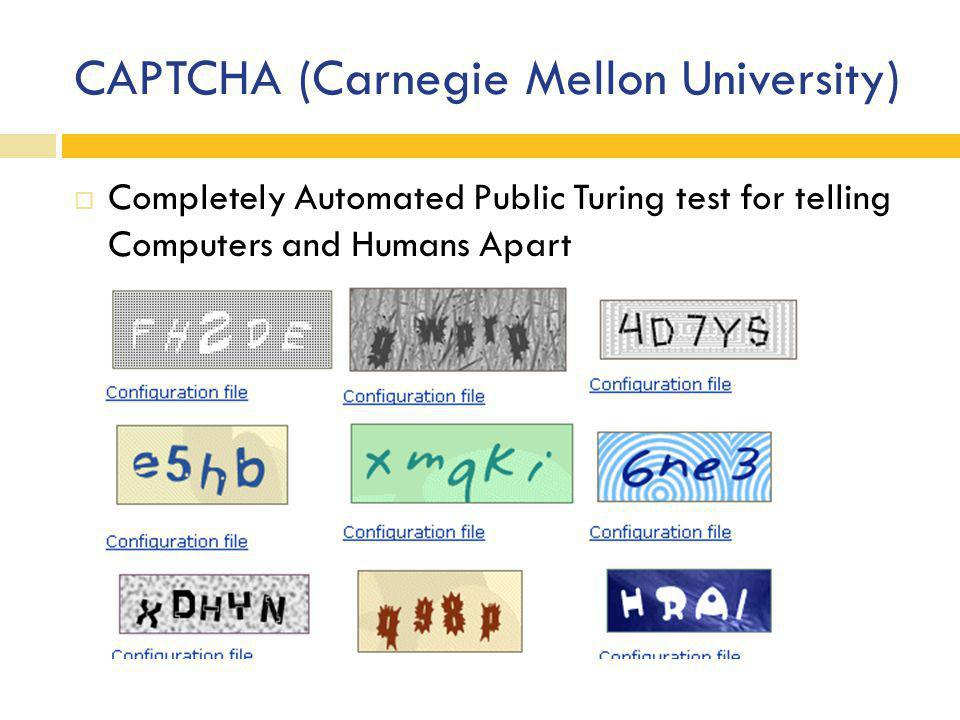 CAPTCHA (Carnegie Mellon University)