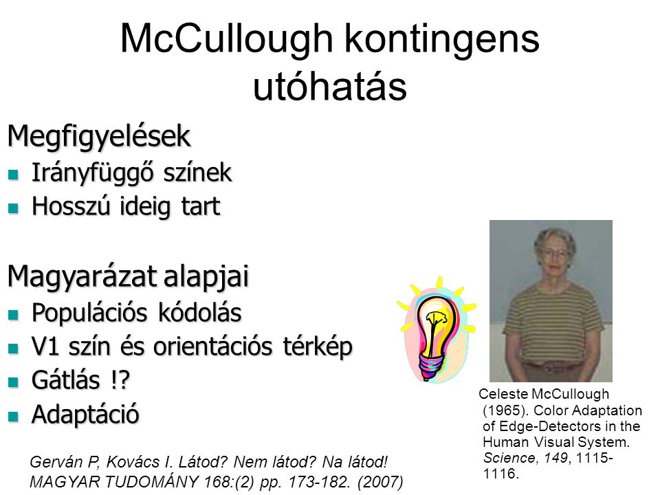 McCullough kontingens utóhatás
