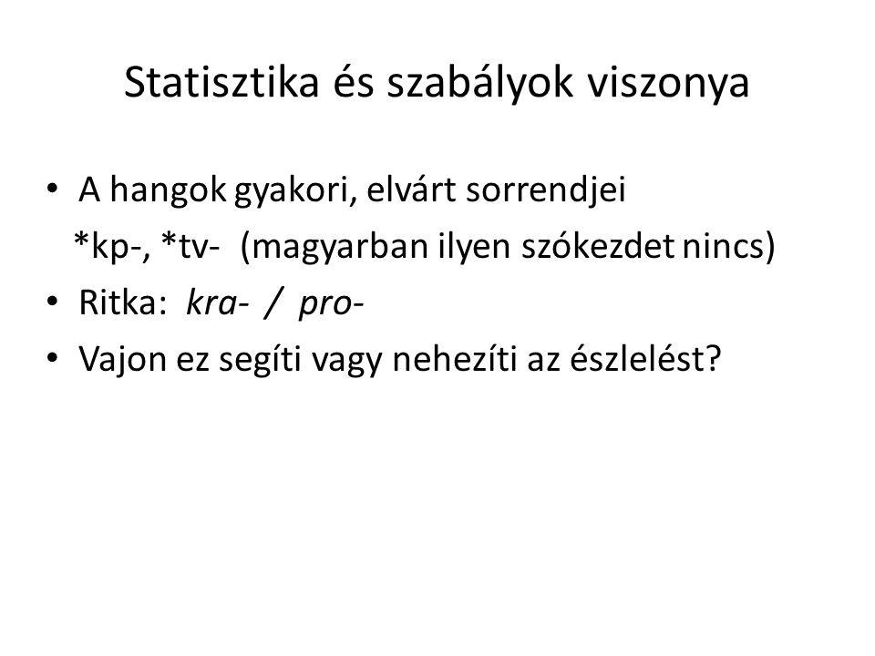 Statisztika és szabályok viszonya