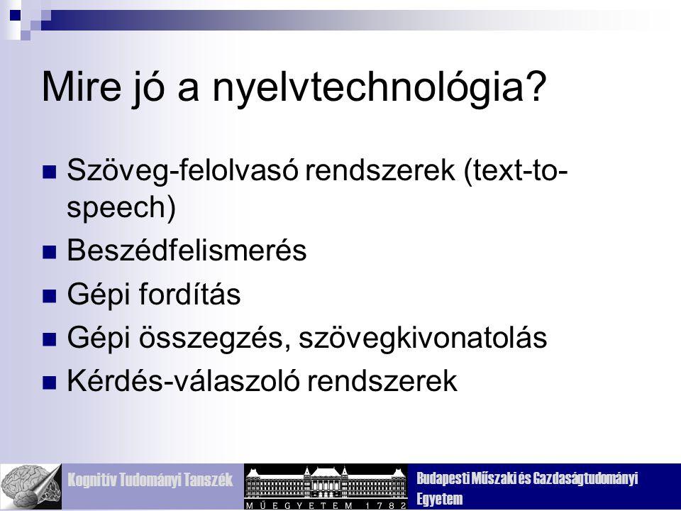 Mire jó a nyelvtechnológia