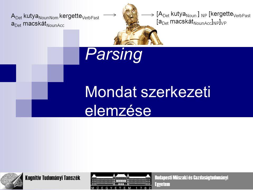 Parsing Mondat szerkezeti elemzése