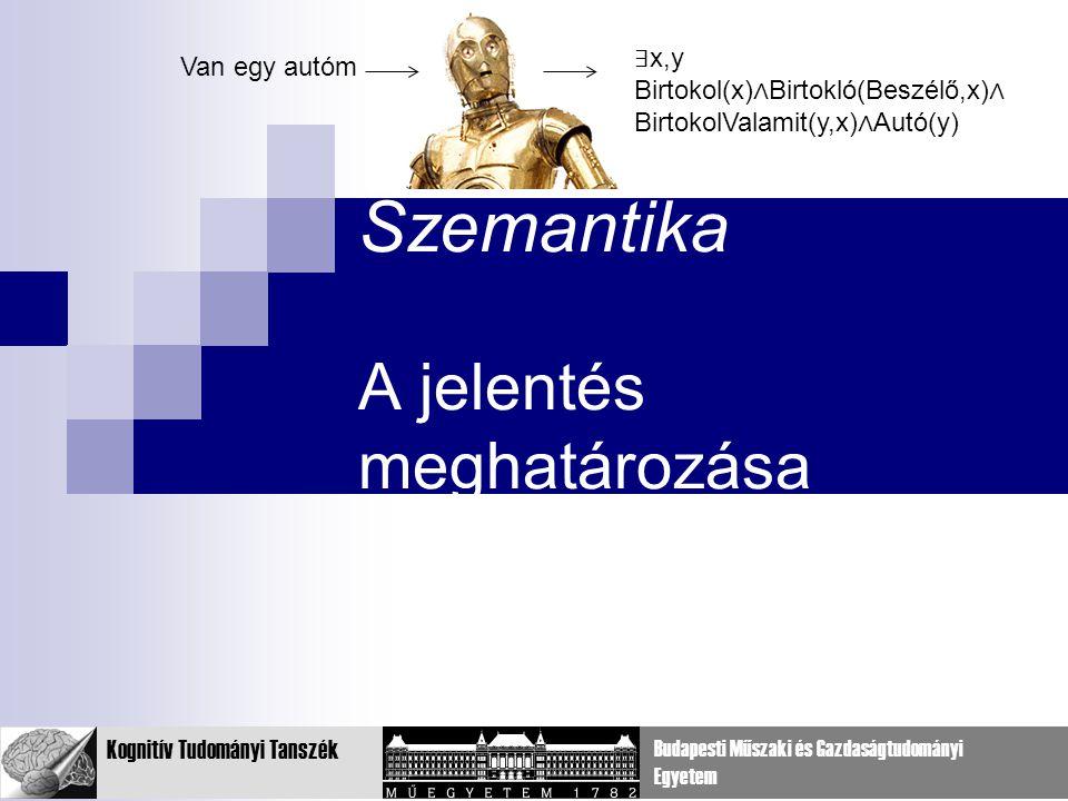 Szemantika A jelentés meghatározása