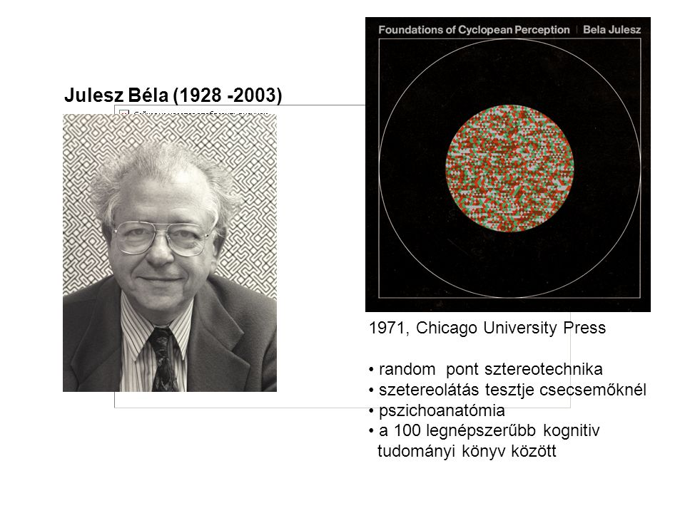 Julesz Béla (1928 -2003) 1971, Chicago University Press