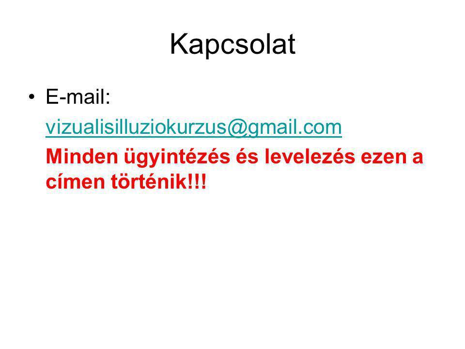 Kapcsolat E-mail: vizualisilluziokurzus@gmail.com