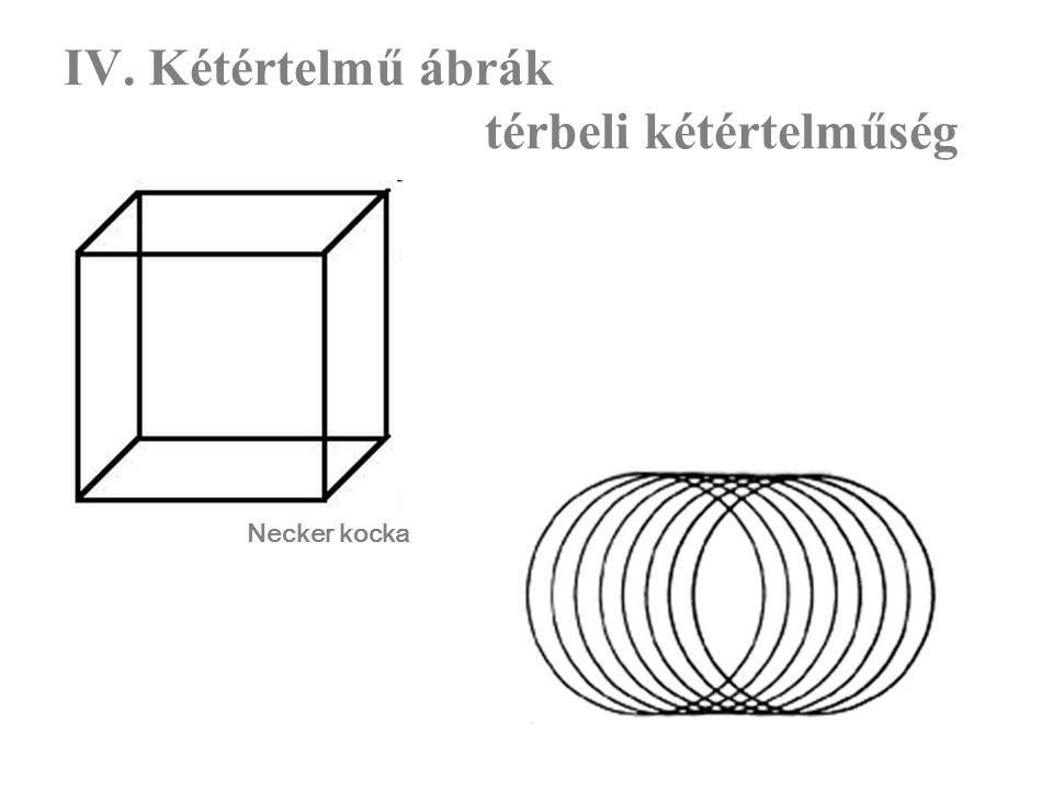 IV. Kétértelmű ábrák térbeli kétértelműség