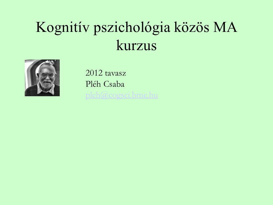 Kognitív pszichológia közös MA kurzus