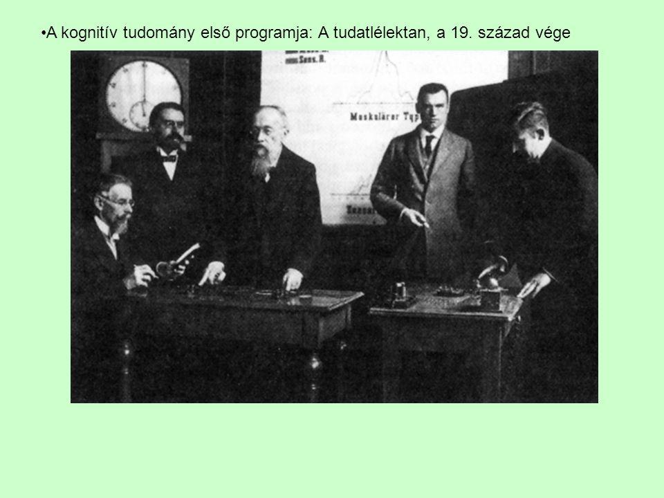 A kognitív tudomány első programja: A tudatlélektan, a 19. század vége