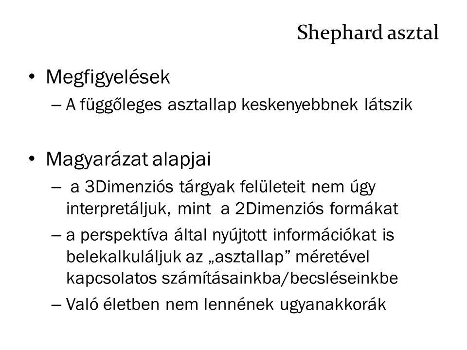 Shephard asztal Megfigyelések Magyarázat alapjai