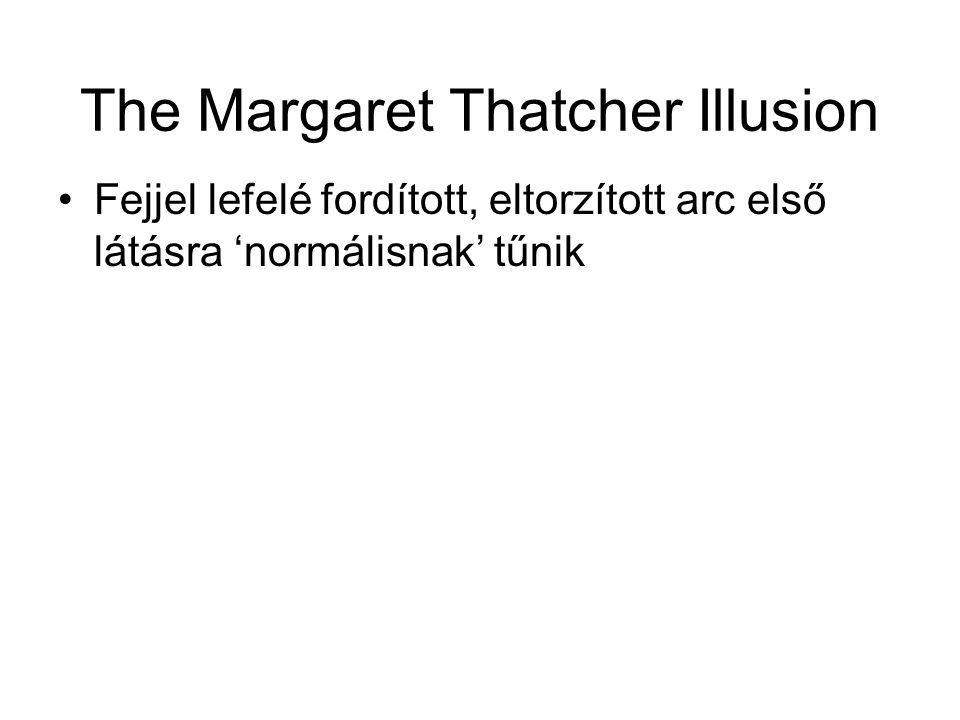 The Margaret Thatcher Illusion