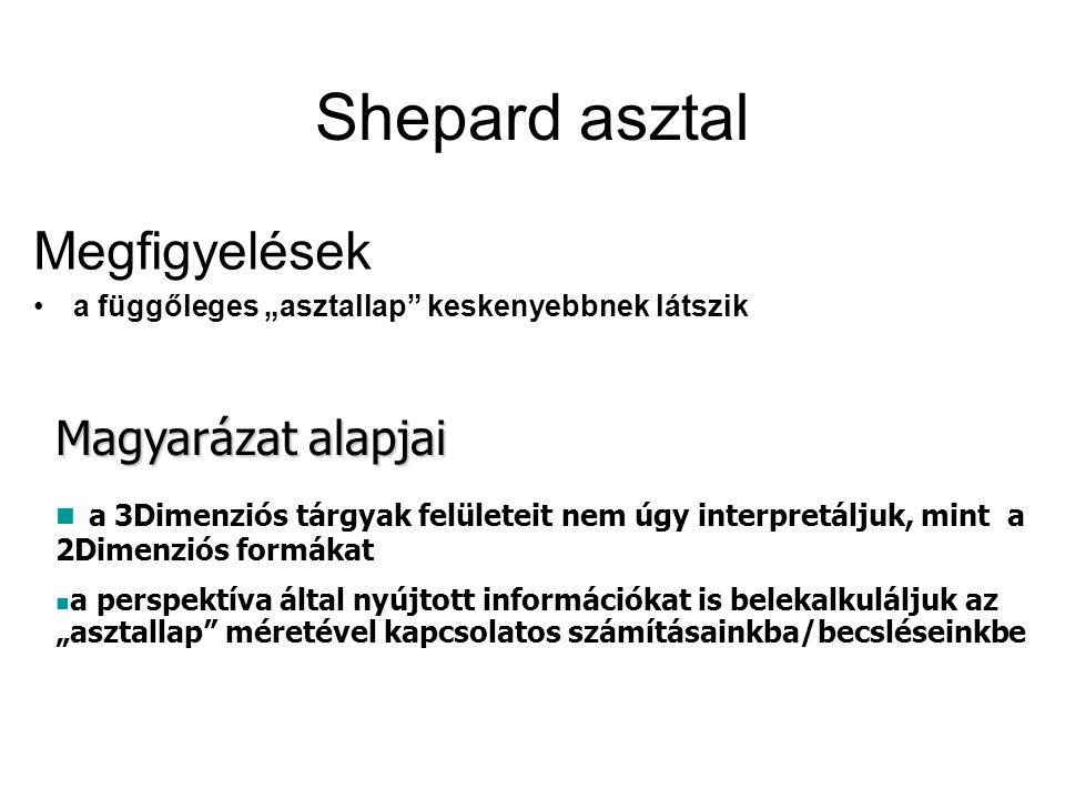 Shepard asztal Megfigyelések Magyarázat alapjai
