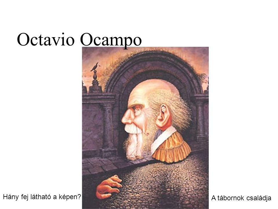 Octavio Ocampo Hány fej látható a képen A tábornok családja