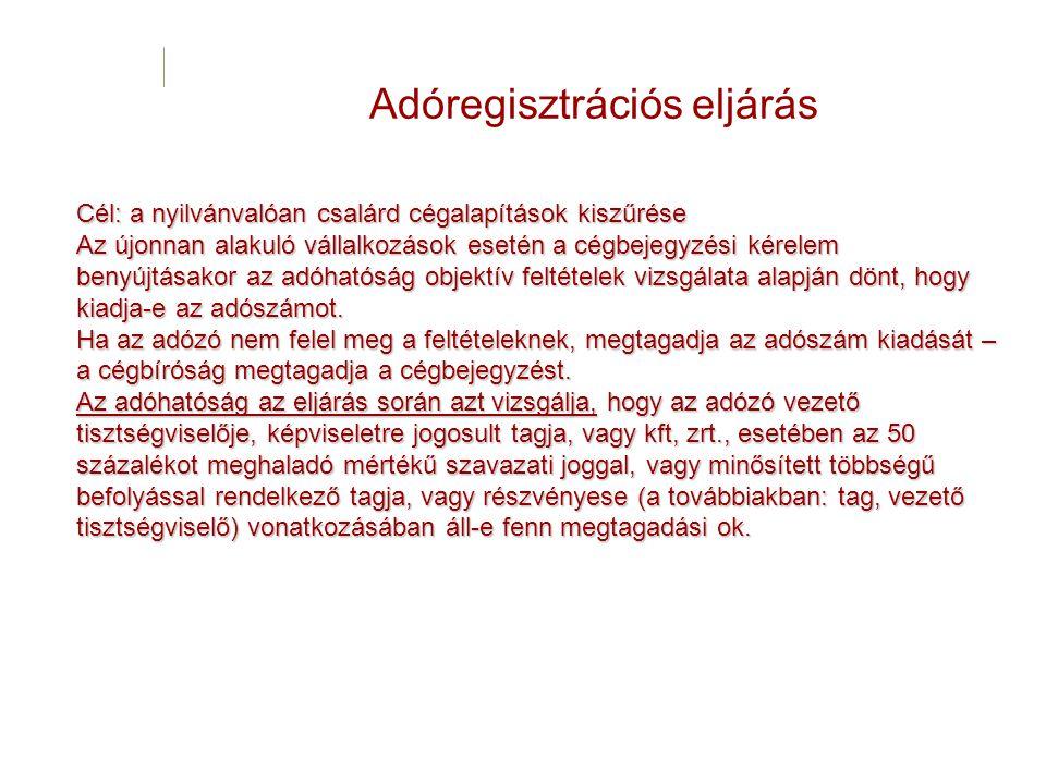 Adóregisztrációs eljárás