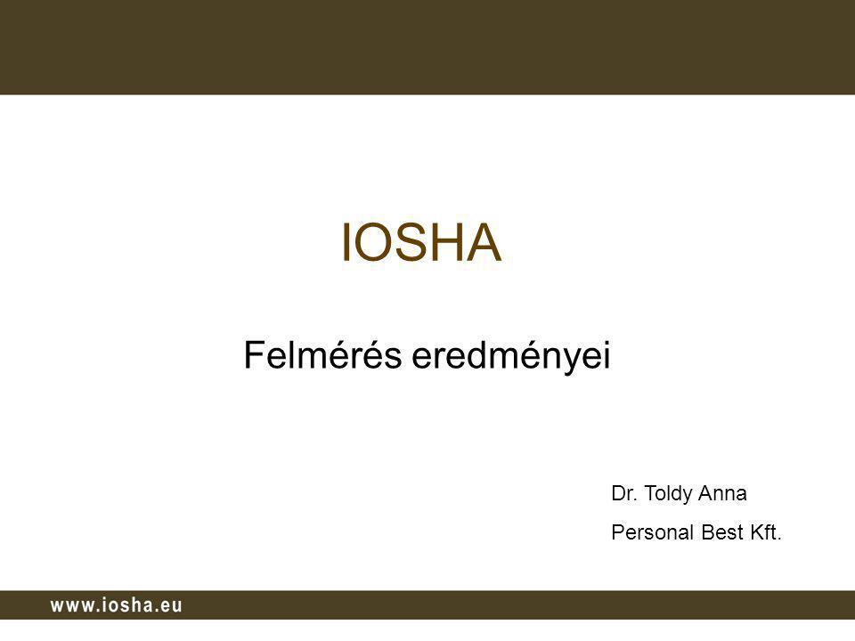 IOSHA Felmérés eredményei Dr. Toldy Anna Personal Best Kft.