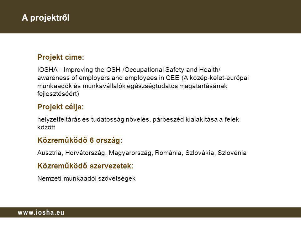 A projektről Projekt címe: Projekt célja: Közreműködő 6 ország: