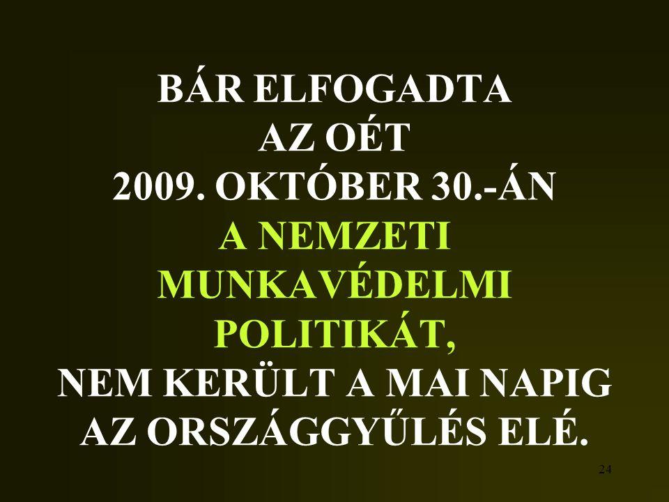 BÁR ELFOGADTA AZ OÉT 2009. OKTÓBER 30