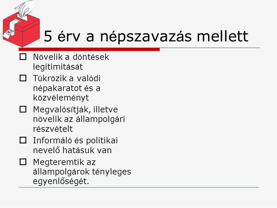 5 érv a népszavazás mellett
