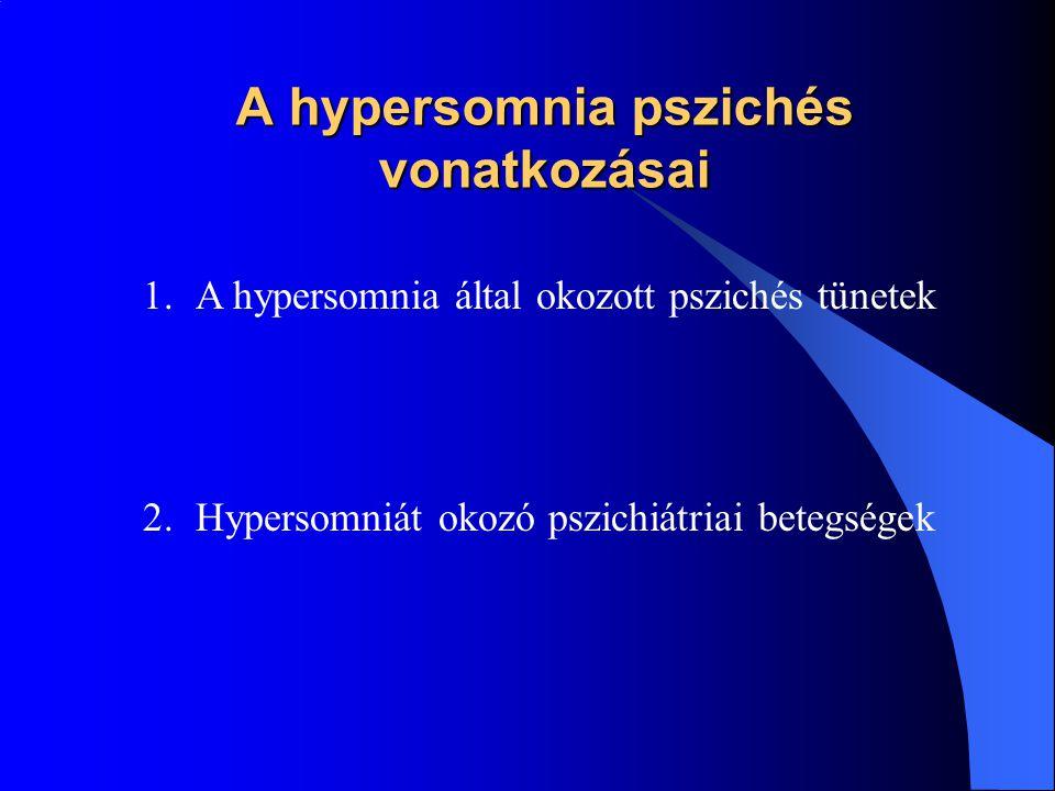 A hypersomnia pszichés vonatkozásai