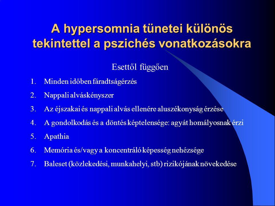 A hypersomnia tünetei különös tekintettel a pszichés vonatkozásokra