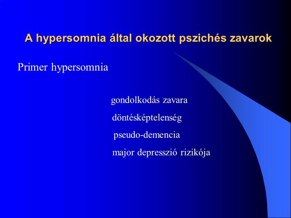 A hypersomnia által okozott pszichés zavarok