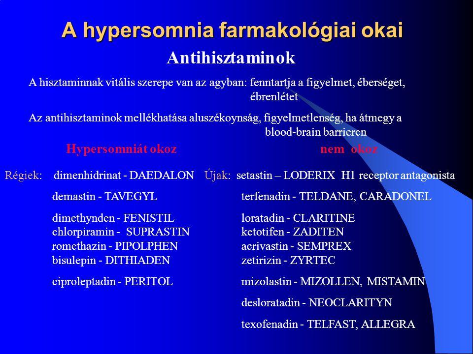 A hypersomnia farmakológiai okai