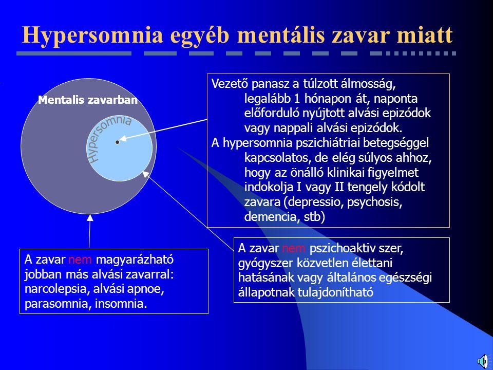 Hypersomnia egyéb mentális zavar miatt