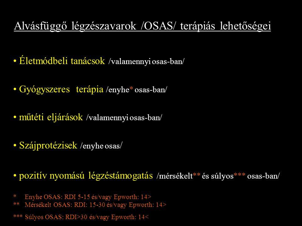 Alvásfüggő légzészavarok /OSAS/ terápiás lehetőségei