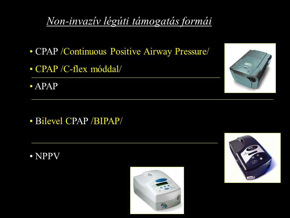 Non-invazív légúti támogatás formái
