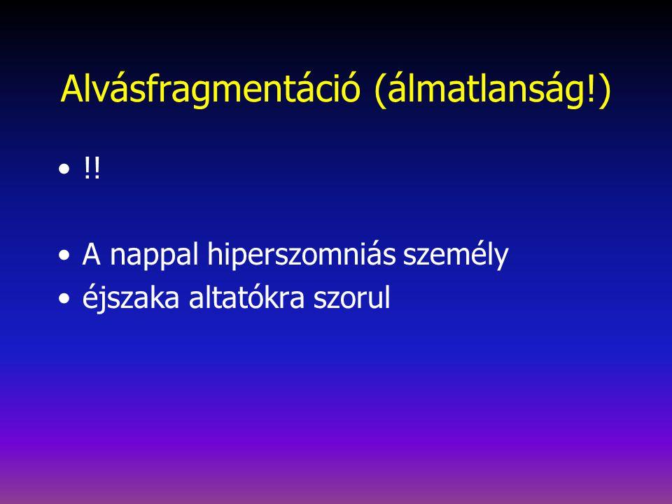 Alvásfragmentáció (álmatlanság!)