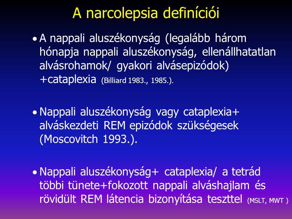 A narcolepsia definíciói