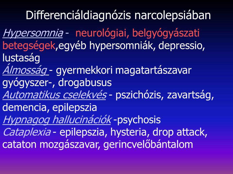 Differenciáldiagnózis narcolepsiában