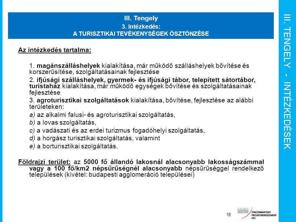 III. TENGELY - INTÉZKEDÉSEK