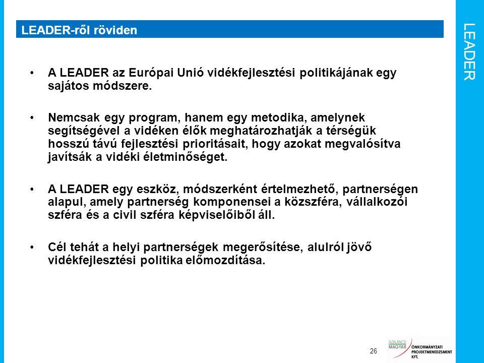LEADER LEADER-ről röviden