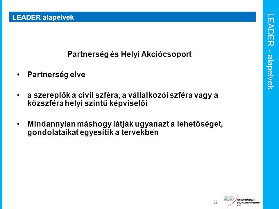 Partnerség és Helyi Akciócsoport