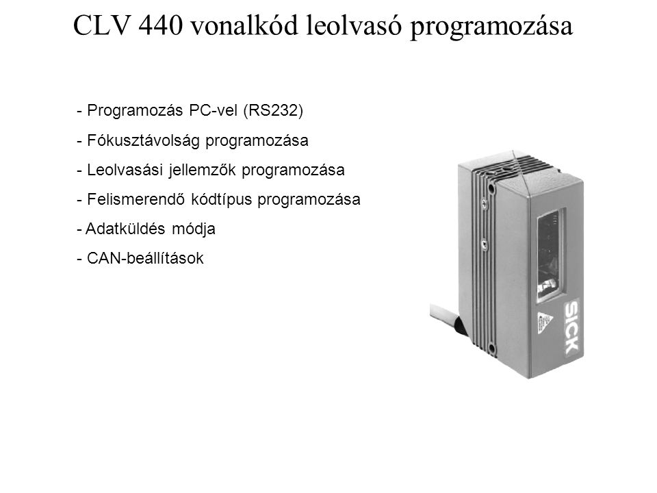 CLV 440 vonalkód leolvasó programozása