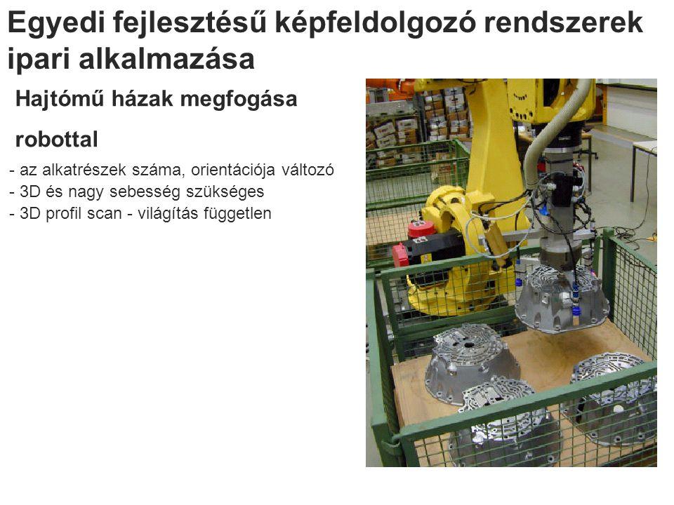 Egyedi fejlesztésű képfeldolgozó rendszerek ipari alkalmazása