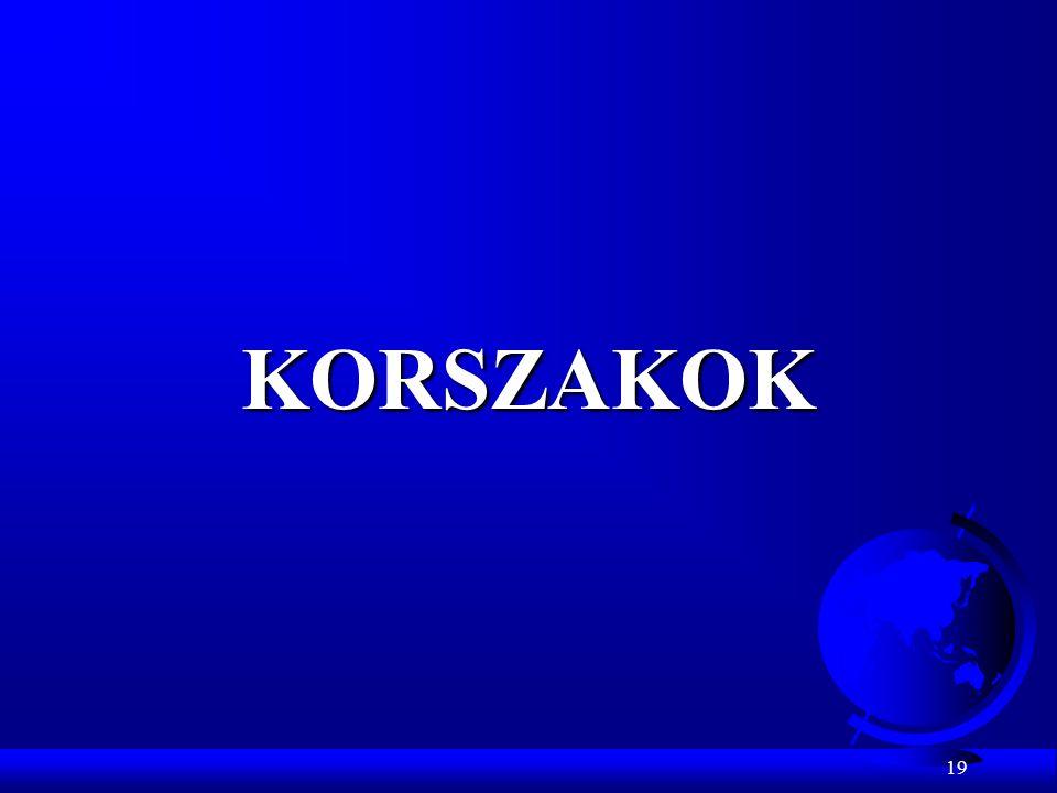 KORSZAKOK