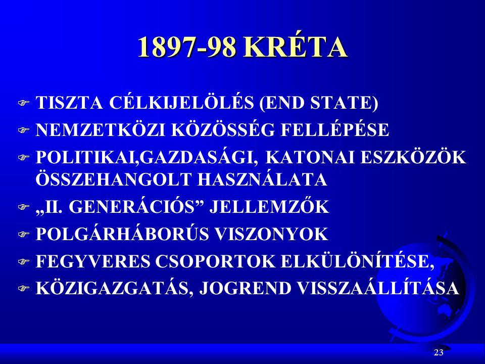 1897-98 KRÉTA TISZTA CÉLKIJELÖLÉS (END STATE)