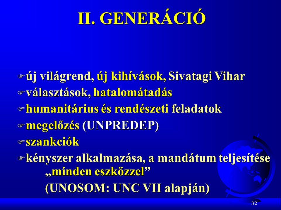 II. GENERÁCIÓ új világrend, új kihívások, Sivatagi Vihar