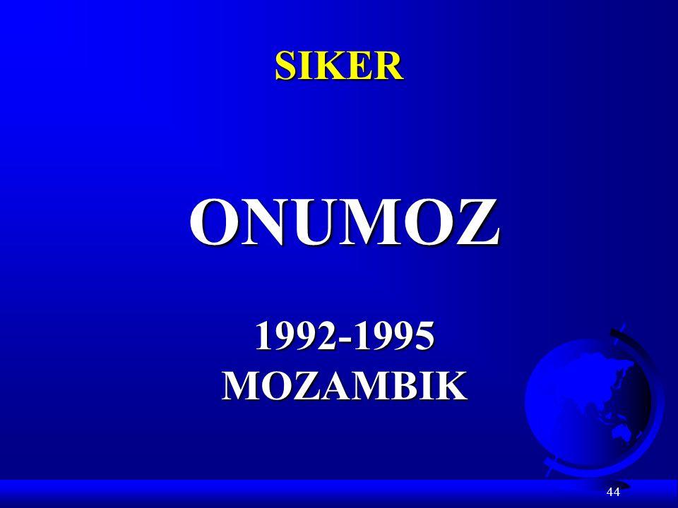 SIKER ONUMOZ 1992-1995 MOZAMBIK