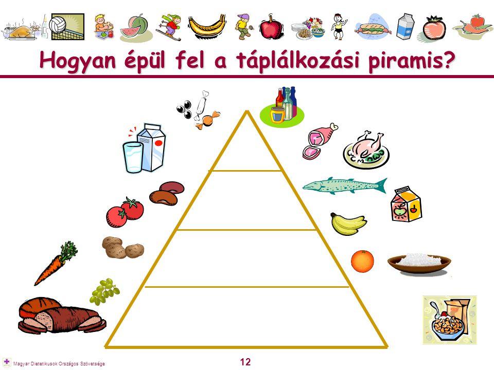 Hogyan épül fel a táplálkozási piramis