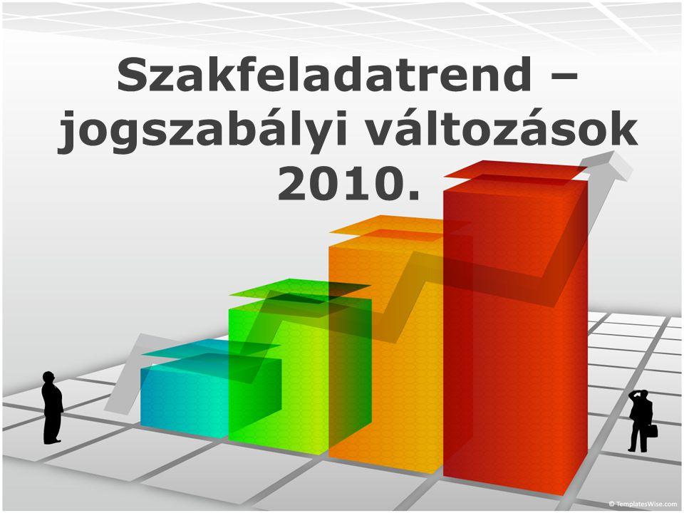 Szakfeladatrend – jogszabályi változások 2010.