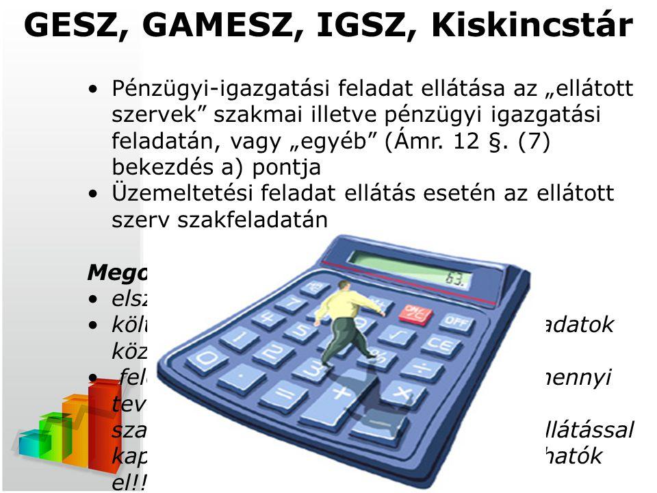 GESZ, GAMESZ, IGSZ, Kiskincstár
