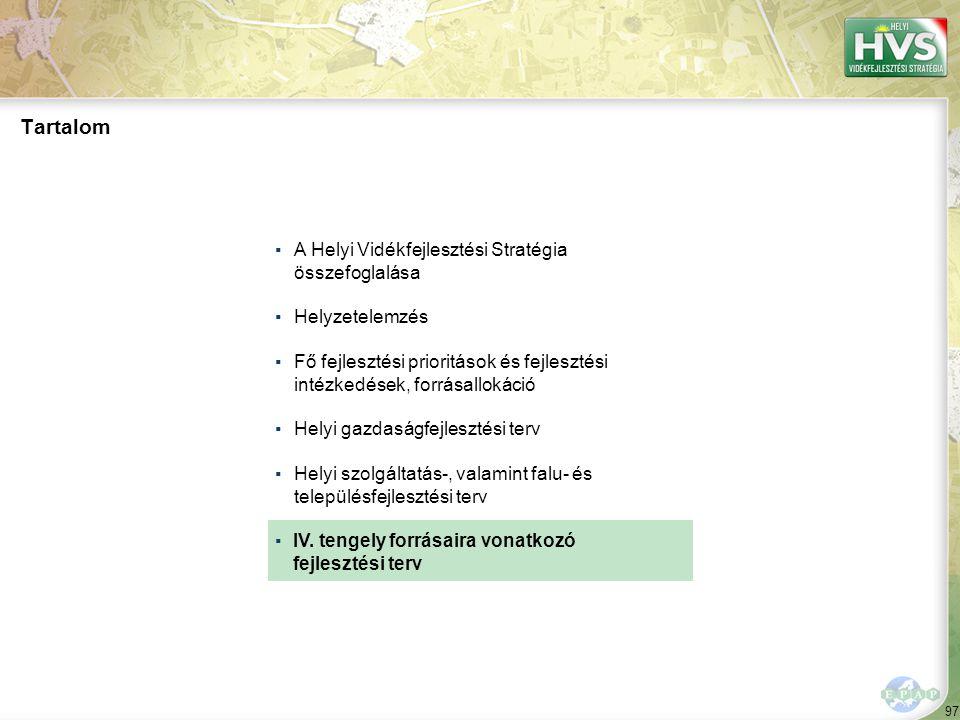 A 10 legfontosabb IV. tengelyre vonatkozó fejlesztési problémából/lehetőségből a legtöbb – db – a(z) fejlesztési témához kapcsolódik