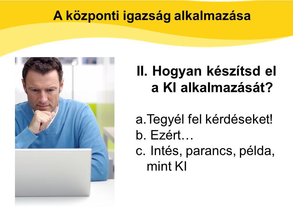 II. Hogyan készítsd el a KI alkalmazását