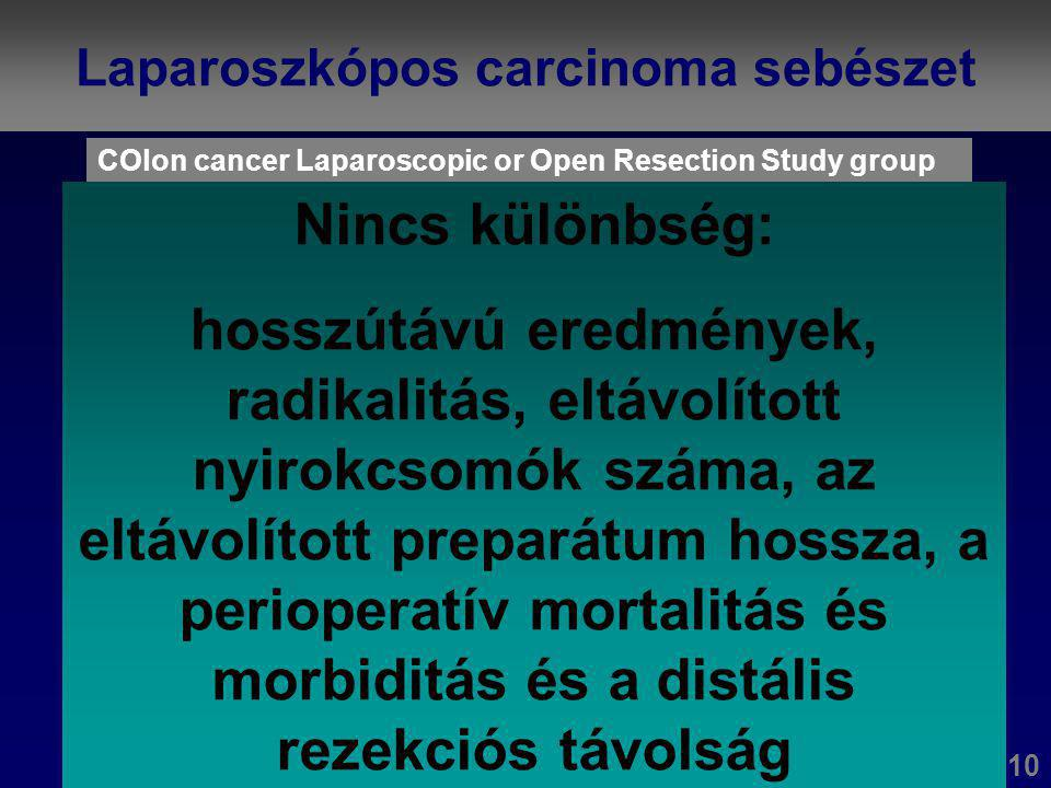 Laparoszkópos carcinoma sebészet