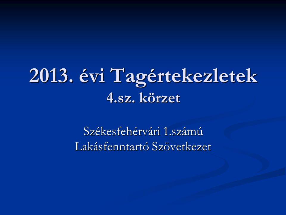 2013. évi Tagértekezletek 4.sz. körzet