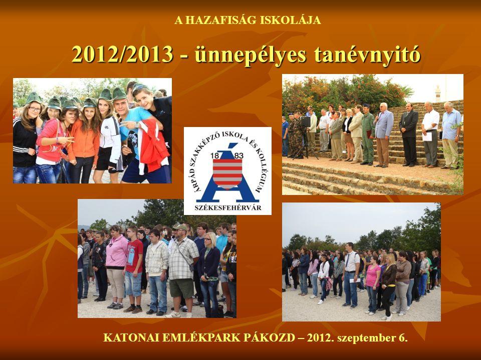 2012/2013 - ünnepélyes tanévnyitó